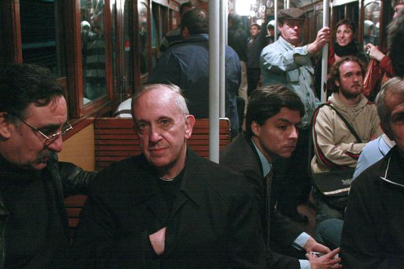 As Cardinal, Jorge Mario Bergoglio, refused his chauffeured limousine, choosing to ride the bus or subway to work.