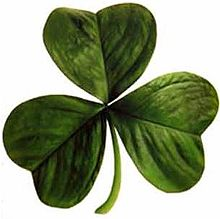 Is the three-leaf clover a good visual aid for the trinity