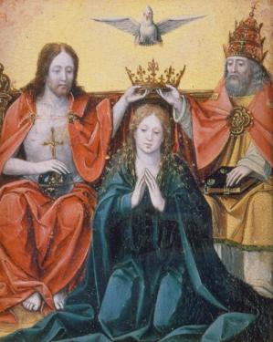 The coronation of Mary.